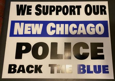 Police Support Signs